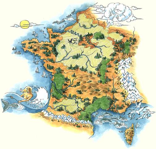 Carte de France Design Carte de France